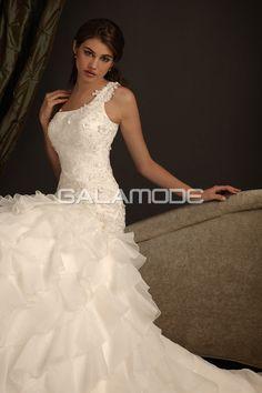 #Robe #de #Mariée #Charmant Romantique Sans Manches Taille Base Galamode.fr