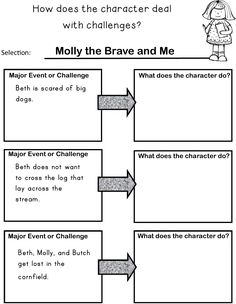 Great to use when describing how a character responds to major events or challenges in a story! Second grade CCSS RL Teaching Skills, Student Teaching, Teaching Reading, Guided Reading, Reading Activities, Learning, 2nd Grade Class, 2nd Grade Reading, Second Grade