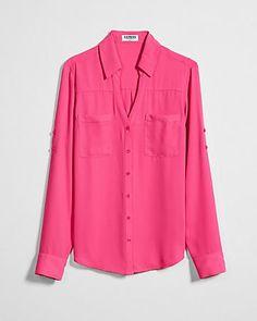 fd3f78b765b slim fit convertible sleeve portofino shirt Sexy Shirts