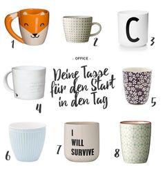 Der Kaffee am Morgen ist so wichtig, dass wir sogar gerne eine besondere Tasse dafür haben. Eine, die nur uns gehört und aus der nur wir trinken dürfen. Wir messen der Kaffeetasse sehr viel Bedeutung bei. Das ist auch gut, denn anders schmeckt es einfach nicht, oder? Hier eine Auswahl an Tassen, worunter demnächst deine Lieblingstasse sein könnte!