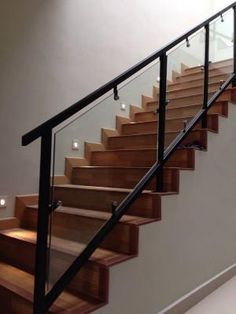 Mild Steel Staircase Railing With Glass_2 Pictures