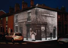Shimon Attie inspired ghosts of the past… pubs of Macclesfield.