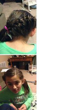 Cute french braid for short hair