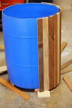 Faux Wooden Barrel.  #pallets  #outdoors  #diy