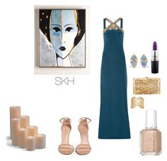 """""""Untitled #2"""" by explorer-14796007969 on Polyvore featuring Frontgate, MAC Cosmetics, Stuart Weitzman, Notte by Marchesa, Charlotte Olympia, WWAKE and Aurélie Bidermann"""