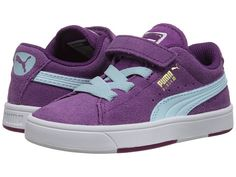 Puma Kids Suede S (Toddler/Little Kid/Big Kid) Grape Juice/Clearwater - Zappos.com Free Shipping BOTH Ways