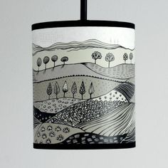 landscape small lampshade - grey - by lush designs