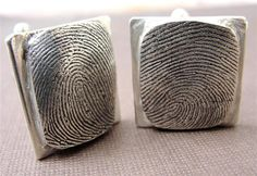 fingerprint cuff links!