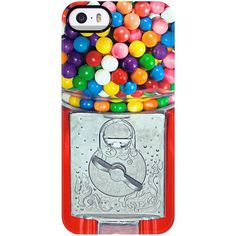Uncommon Gumball Machine iPhone 5/5S TS Deflector Case ($19) ❤ liked on Polyvore featuring accessories, tech accessories and multi