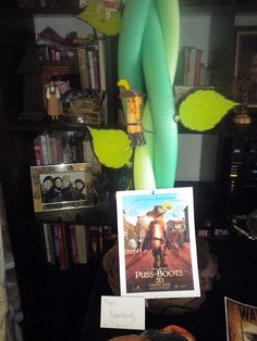 pool noodle vines - birthday party: Puss in Boots theme! #pussinboots #party
