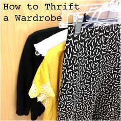 How to Thrift a Wardrobe