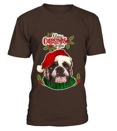 # Kids Bulldog Christmas T-shirt 12 Asphalt .  Kids Bulldog Christmas T-shirt 12 Asphalt
