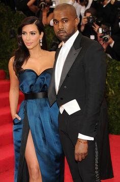 Kim Kardashian and Kanye West at the 2014 MET Gala 5/5/14