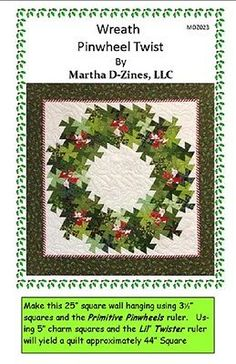 WREATH-PINWHEEL-TWIST-Martha-D-Zines-Quilting-Pattern-Twister