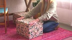 How to Make DIY Fabric-Wrapped Storage Bins | HGTV Fabric Storage Boxes, Fabric Boxes, Storage Bins, Scrap Fabric, Storage Containers, Fabric Basket, Storage Drawers, Fabric Scraps, Diy Cardboard