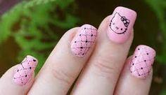 Resultado de imagen para uñas decoradas de kitty
