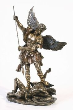 Sale - Archangel St Saint Michael Statue Sculpture Magnificent by Pacific Giftware St. Michael Tattoo, Archangel Michael Tattoo, Saint Michael Statue, St Michael, Michael Angelo, Angel Warrior, Mont Saint Michel, Angel Art, Renaissance Art