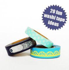 20 fun washi tape ideas