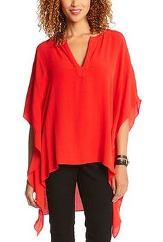 Bold Color! Tangerine Orange Caftan Tunic