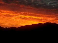 Beautiful sunset over the Greenhorn Mountain Range