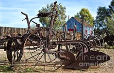 Antique Farm Equipment End of Row - photograph by Lee Craig. Fine art prints and posters for sale.  #leecraig #fineartphotography #farmequipment