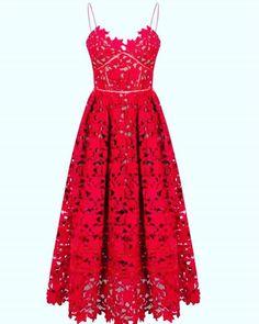 Planning ahead to #weddingseason love this red midi dress #ss16 #springfashion #summerstyle #dress #diy #sewinginspiration