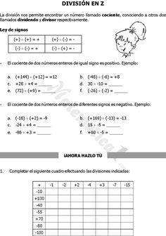 20 Ideas De Numeros Enteros Numeros Enteros Resta De Numeros Enteros Ejercicios Matematicos Secundaria
