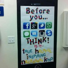 tech bulletin board: Before you.....THINK!