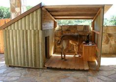 DIY outdoor dog beds for large dogs Big Dog House. I want one for my boxers so bad! Big Dogs, Large Dogs, Large Dog Beds, Small Dogs, Big Dog House, Tiny House, Puppy House, Winter Dog House, Heated Dog House