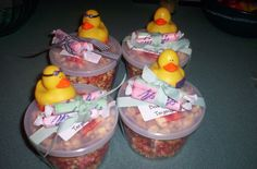 Ocean City Beach Baby Shower complete with Johnson's Popcorn, Shrivers Salt Water Taffy and beach duckies