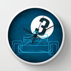 Tyrrel3 Wall Clock by Mauricio Gottsfritz - $30.00