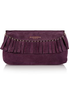 Burberry Prorsum | Fringed suede clutch  (=)