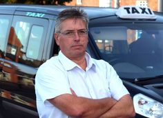 Leyland Taxi drivers are protesting over South Ribble Council plans to impose a rule on all Hackey Cabs must be able to accommodate wheel chairs. Pictured is Taxi Driver John Gregory. 17th October 2014