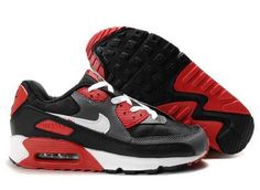 UK Market - Nike Air Max 90 Mens Red Black White Trainers