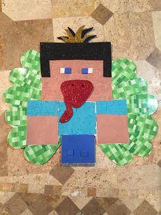 3rd Grade Disguised Turkey Project Minecraft Steve