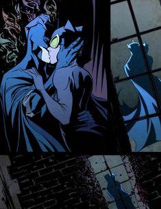 "Batman and Catwoman - ""And I Love Her"" by the Beatles. Some Beatles Day BatCat ; Catwoman Y Batman, Batgirl, Batman Love, Batman Ninja, Book Art, Best Comic Books, Batman Returns, Dc Characters, Dc Heroes"