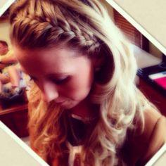 Crown Braid with Curls @Jessica Rico Hair
