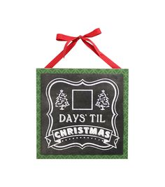 Holiday Cheer Chalkboard Days Til Countdown Calendar