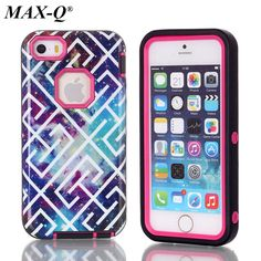 For Apple iPhone 5 SE 5S 5g S E PC + TPU 3 in 1 Heavy Duty Anti Shock Armor Case For iPhone 5s Cover Case phone bags