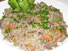 Karcsi főzdéje: Rizottó pulykamájjal Empanadas, Pho, Fried Rice, Curry, Ethnic Recipes, Bulgur, Curries, Empanada, Nasi Goreng