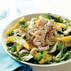 15 best Japanese recipes | Crab, Shrimp, and Mango Salad with Yuzu Vinaigrette | Sunset.com