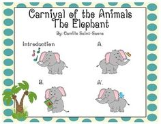"Carnival of the Animals ""The Elephant"" Listening / Movement Map"