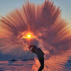 This is what happens when you throw water in the air at -40 degrees.