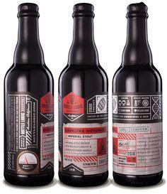 Bottle Logic Darkstar November Imperial Stout - designed by Emrich Office
