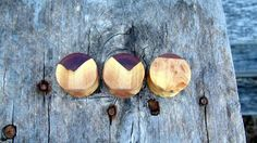 "16mm Mind Blowing Maple burl wood set in purple resin ear plugs, Hand crafted unique 5/8"" gauge set of flesh plugs by MustLoveWoodPlugs on Etsy"