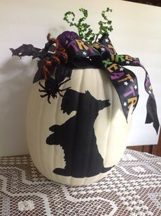 Scotty Halloween Pumpkin-Itsy Bitsy Spider on Etsy, $40.00