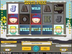 Онлайн слот #Южный парк по мотивам знаменитого мультфильма #онлайн на рубли