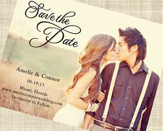Vertical Save The Date Postcard Template, Whimsical Save The Date ...