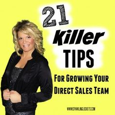Direct Sales Recruiting - 21 Killer Tips!                                                                                                                                                                                 More Direct Marketing, Multi Level Marketing, Sales And Marketing, Business Marketing, Business Tips, Business Goals, Business Motivation, Direct Sales Tips, Direct Selling