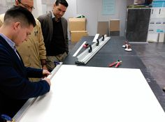 #Coverlam's cutting demo made for our Hungarian customer MATYCO this morning. #tiles #architecture #construction